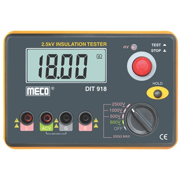 2.5kV - 20GOhm Digital Insulation Tester with AC Voltage Function
