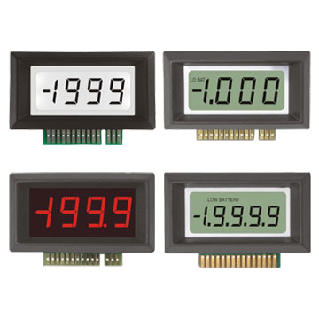 3½ & 4½ Digit LCD Modules - Professional Series, 3½ Digit LED Modules - Professional Series