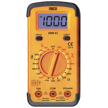 3-1/2 Digit 2000 Count Digital Multimeter