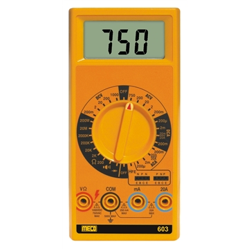 3-1/2 Digit 2000 Count Digital Multimeter with 20A AC/DC