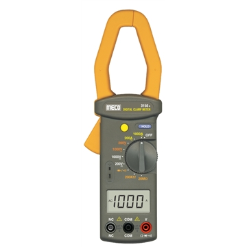 3-1/2 Digit 2000 Counts 1000A AC Manual Ranging Clampmeter