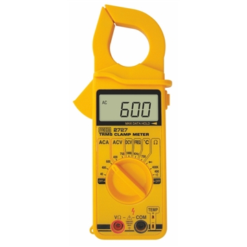 3-3/4 Digit 4000 Count 600A AC TRMS Digital Clampmeter with Temperature & Frequency
