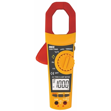 3-5/6 Digit 6000 Count 1000A AC TRMS Digital Clampmeter with Temperature & Frequency