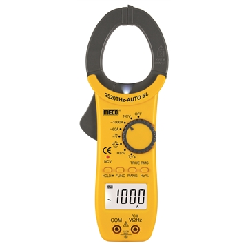 3-5/6 Digit 6000 Counts 1000A AC Auto / Manual Ranging Digital Clampmeter with Temperature & Frequency - TRMS