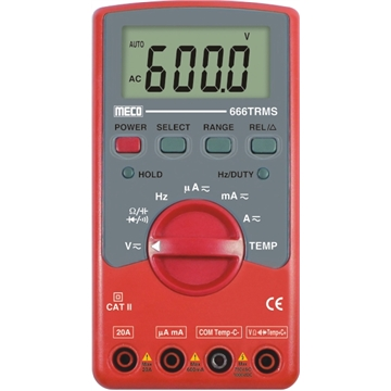 3-5/6 Digit 6600 Count TRMS Autoranging Digital Multimeter