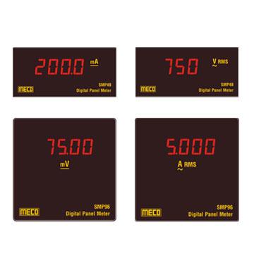 new 4 digit programmable ammeter - dc / ac trms / 3 & 4 digit programmable  voltmeter