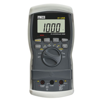 3-3/4 Digit 4000 Count Digital Multimeter with PC Interface & Data Logging Software