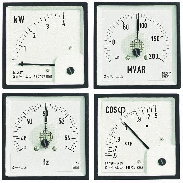 Electronic Analog Type W, Var, PF and Hz Meters