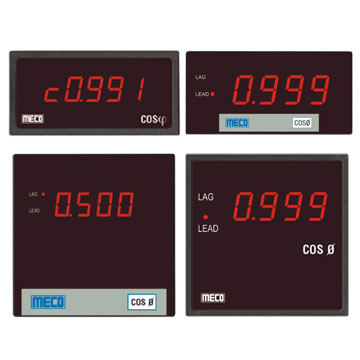 Digital Power Factor Meter (with Built-In Transducer)