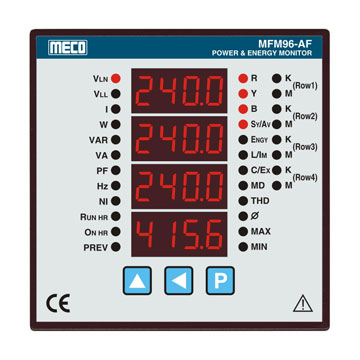 3 Phase Multifunction Power and Energy Meter with M.D. and T.H.D.-TRMS